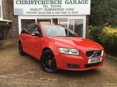 Volvo V50 2.0 D3 [150] SE 5dr Geartronic Estate Diesel Red at Adrian Hart Cars Ltd Ipswich